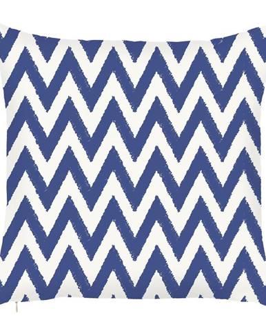 Modrá obliečka na vankúš Mike&Co.NEWYORK Sail Zigzag, 43 × 43 cm