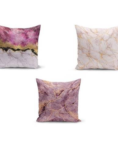 Sada 3 obliečok na vankúše Minimalist Cushion Covers Pinkie Cassie, 45 x 45 cm