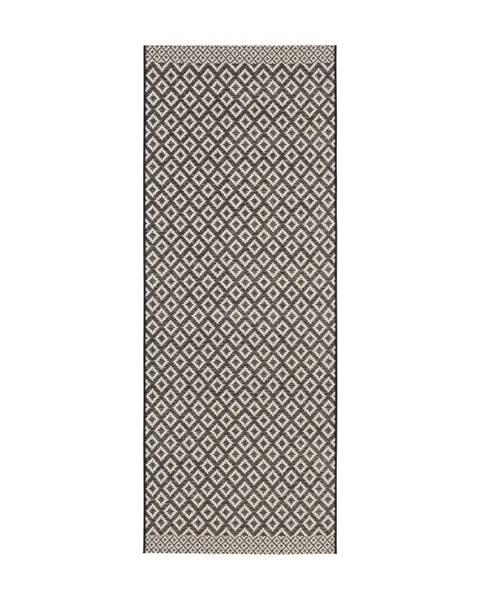 Zala Living Čierno-béžový behúň Zala Living Minnia, 76×200cm