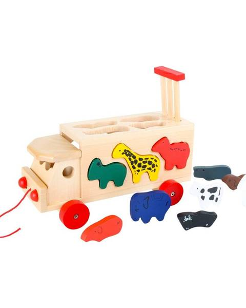Legler Drevený nákladiak so skladačkou Legler Zoo Cart With Animals