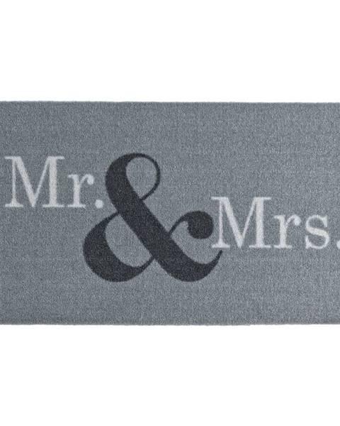 Hanse Home Sivá rohožka Zala Living Design Mr and Mrs, 50×70cm
