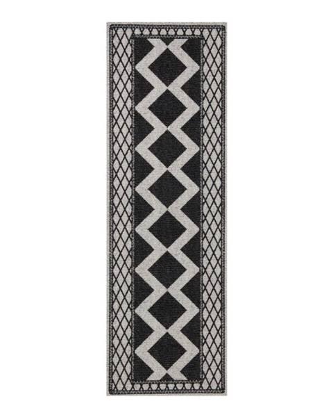 Hanse Home Sivo-čierny behúň Zala Living Cook & Clean Peggy, 60×180cm