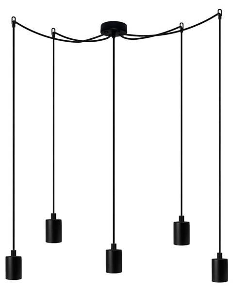 Bulb Attack Čierne päťramenné závesné svietidlo Bulb Attack Cero Basic