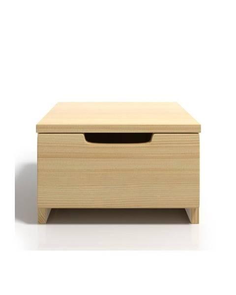 Skandica Nočný stolík z borovicového dreva sozásuvkou SKANDICA Spectrum