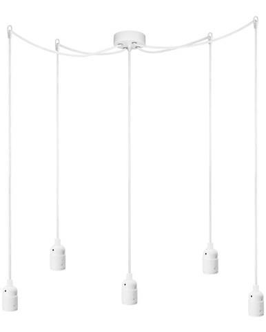 Biele päťramenné závesné svietidlo Bulb Attack Uno Cassie