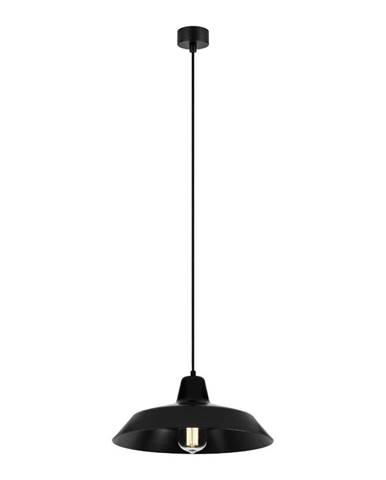 Čierne stropné svietidlo Bulb Attack Cinco, ∅35 cm