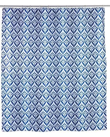 Modrý sprchový záves Wenko Lorca, 180×200cm