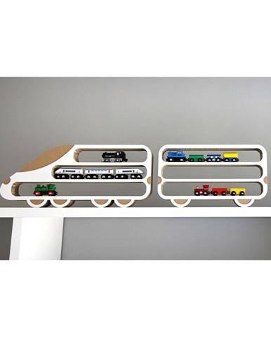 Set 2 poličiek Unlimited Design for kids Lokomotíva a vagón