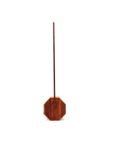Gingko Stolová lampa v dekore orechového dreva Gingko Octagon