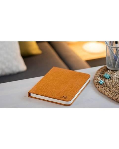 Gingko Oranžová veľká LED stolová lampa v tvare knihy Gingko Booklight