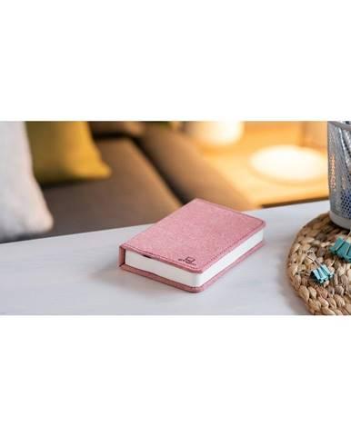 Ružová malá LED stolová lampa v tvare knihy Gingko Booklight