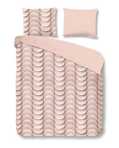 Ružové obliečky na dvojlôžko z bavlny Good Morning Emerged, 200×240 cm