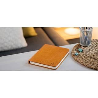 Oranžová veľká LED stolová lampa v tvare knihy Gingko Booklight