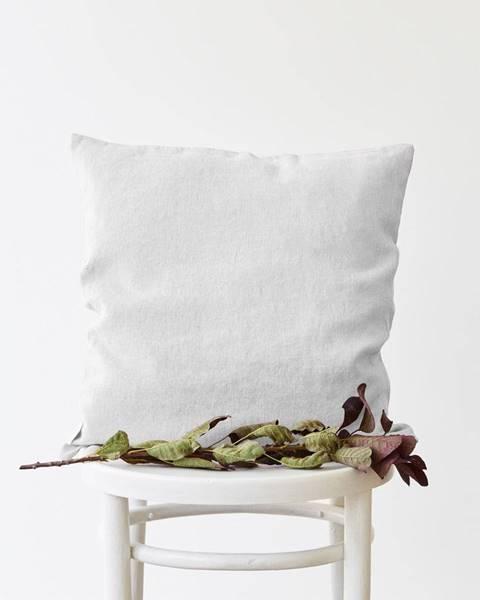 Linen Tales Biela ľanová obliečka na vankúš Linen Tales, 45 x 45 cm