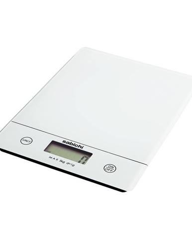 Biela digitálna kuchynská váha Sabichi