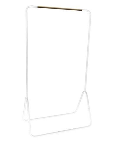 Biely stojan na oblečenie Compactor Elias Clother Hanger, výška 145 cm