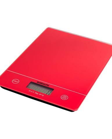 Červená digitálna kuchynská váha Sabichi