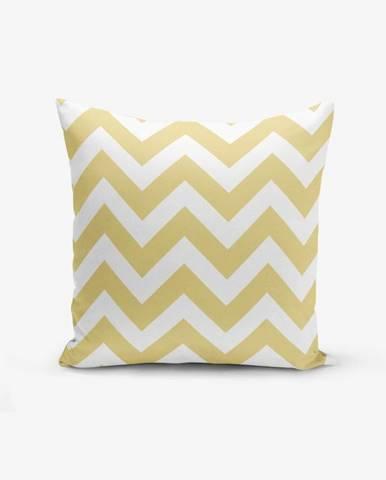 Obliečka na vankúš s prímesou bavlny Minimalist Cushion Covers Strippin, 45×45 cm