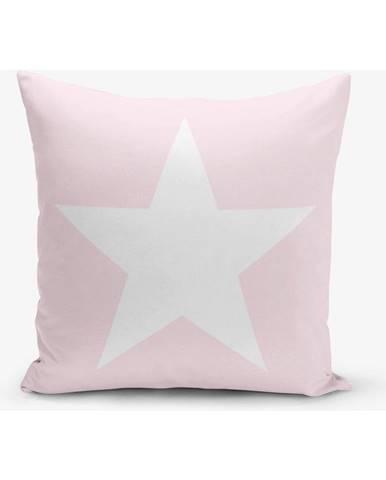 Obliečka na vankúš s prímesou bavlny Minimalist Cushion Covers Star Pink, 45×45 cm