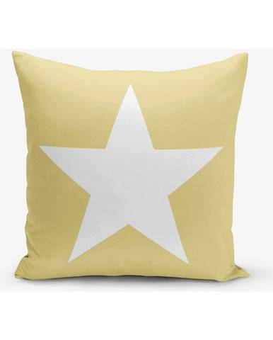 Žltá obliečka na vankúš Minimalist Cushion Covers Stars, 45×45 cm