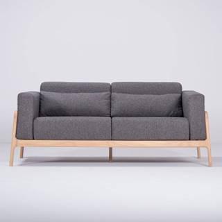 Tmavosivá pohovka s konštrukciou z dubového dreva Gazzda Fawn, 180 cm