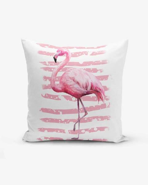 Obliečka na vankúš Minimalist Cushion Covers Linears Flamingo, 45 × 45 cm