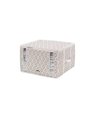 Béžový vakuový úložný box na oblečenie Compactor Signature Daman 3D Vacuum Bag, 125 l