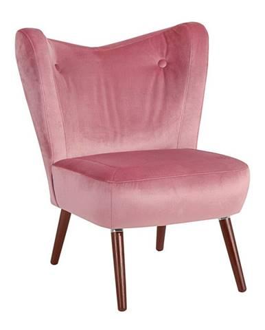 Ružové kreslo Max Winzer Sari Velvet