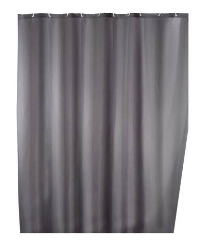 Sivý sprchový záves s protiplesňovou povrchovou úpravou Wenko, 180×200 cm