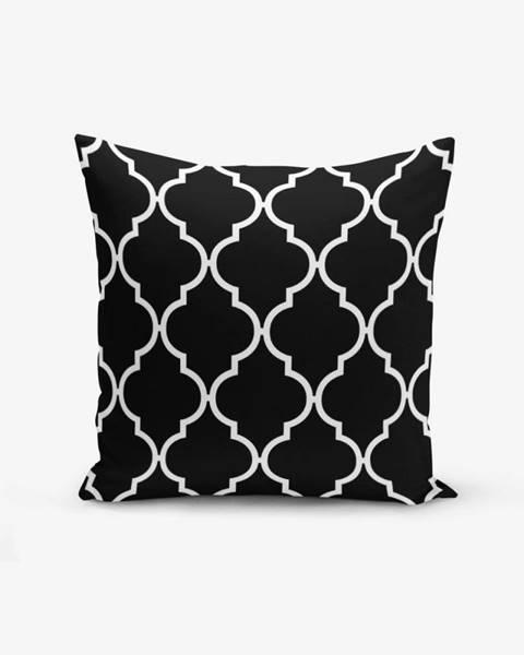 Minimalist Cushion Covers Čierno-biela obliečka na vankúš s bavlnou Minimalist Cushion Covers Black Background Ogea, 45×45 cm