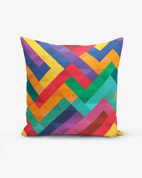 Minimalist Cushion Covers Obliečka na vankúš s prímesou bavlny Minimalist Cushion Covers Colorful Geometric Desen, 45×45 cm