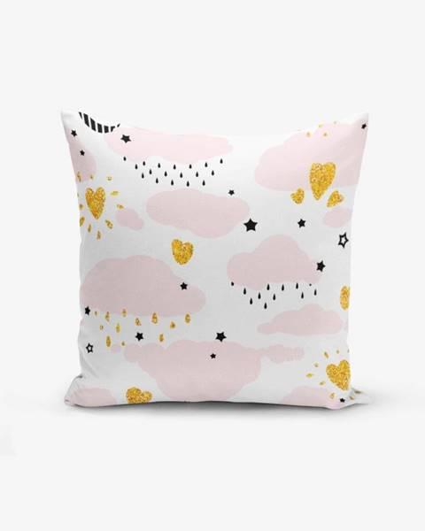 Minimalist Cushion Covers Obliečka na vankúš s prímesou bavlny Minimalist Cushion Covers Pink Clouds Modern, 45×45 cm