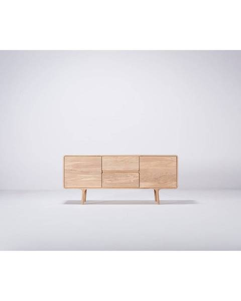 Gazzda TV komoda z masívneho dubového dreva Gazzda Fawn Natural