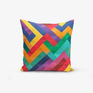 Obliečka na vankúš s prímesou bavlny Minimalist Cushion Covers Colorful Geometric Desen, 45×45 cm
