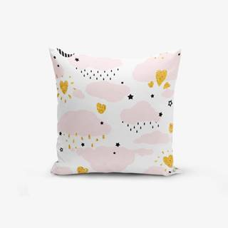 Obliečka na vankúš s prímesou bavlny Minimalist Cushion Covers Pink Clouds Modern, 45×45 cm