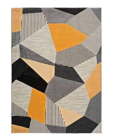 Oranžovo-sivý koberec Universal Gladys Sarr, 60 x 120 cm