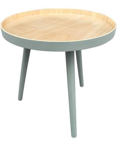 Odkladací stolík so zelenou konštrukciou WOOOD Sasha