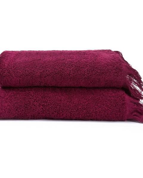 Bonami Sada 2 červených uterákov zo 100% bavlny Bonami, 50 × 90 cm