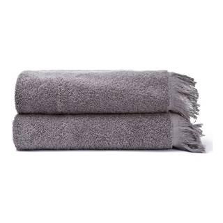 Súprava 2 sivých uterákov zo 100% bavlny Bonami, 50 × 90 cm