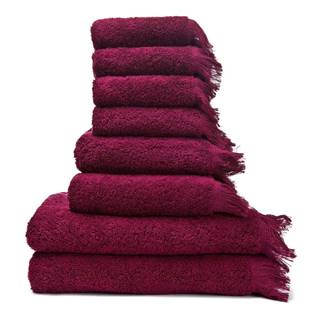 Sada 6 červených uterákov a 2 osušiek zo 100 % bavlny Bonami