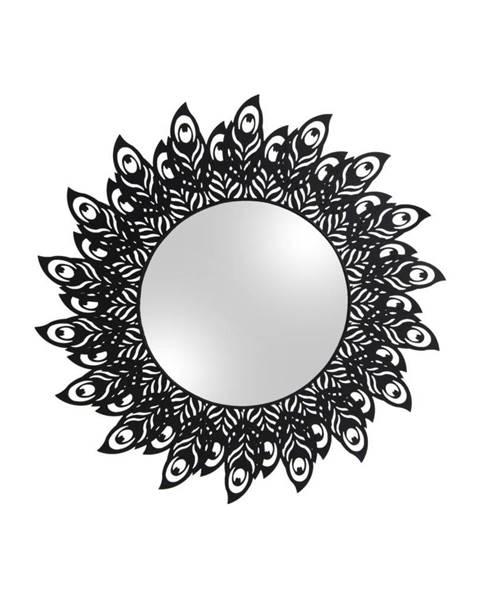 PT LIVING Nástenné zrkadlo s rámom v čiernej farbe PT LIVING Peacock Feathers, 60×30cm