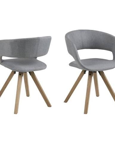 Sivá jedálenská stolička Actona Grace Corsica