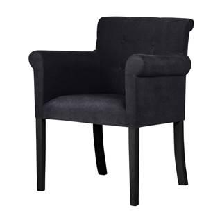 Čierna stolička s čiernymi nohami z bukového dreva Ted Lapidus Maison Flacon
