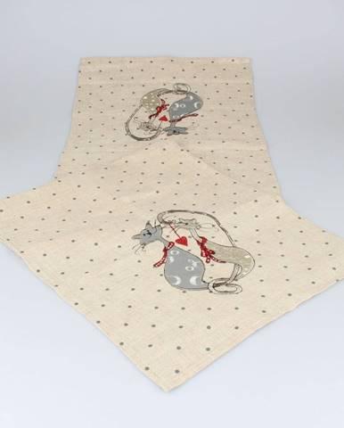 Behúň na stôl Dakls Cats, 140 x 33 cm