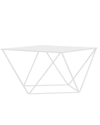 Biely konferenčný stolík Custom Form Daryl, 80 × 80 cm