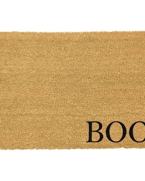 Artsy Doormats Čierna rohožka z prírodného kokosového vlákna Artsy Doormats Boo, 40 x 60 cm
