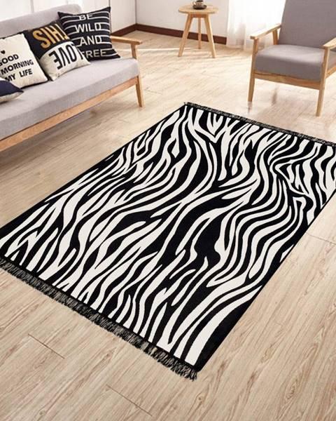 Kate Louise Obojstranný umývateľný koberec Kate Louise Doube Sided Rug Zebra, 120 × 180 cm