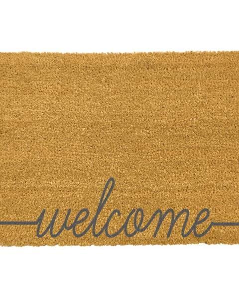 Artsy Doormats Sivá rohožka z prírodného kokosového vlákna Artsy Doormats Welcome Scribbled, 40 x 60 cm