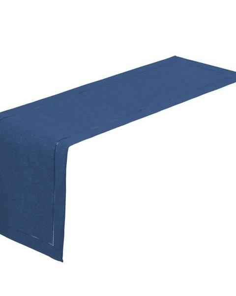 Unimasa Tmavomodrý behúň na stôl Unimasa, 150x41cm