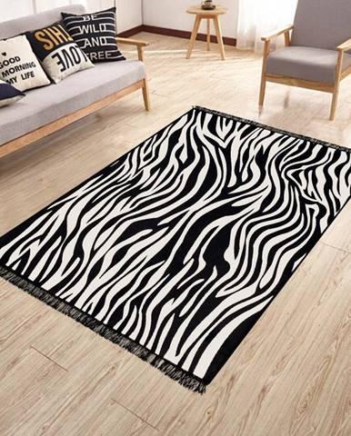 Obojstranný umývateľný koberec Kate Louise Doube Sided Rug Zebra, 80 × 150 cm